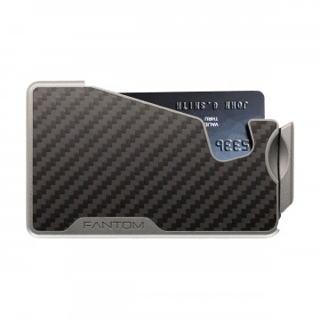 Fantom R Carbon Fiber Wallet:  Fantom R Wallet provides instant access to your cards and keeps them secure. By flipping the lever, the cards fan...
