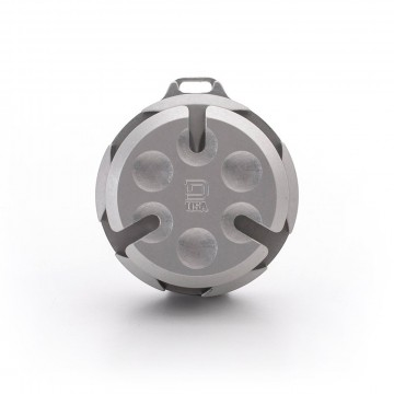 Coin Capsule:  Coin Capsule keeps your loose change organized and ready to deploy. Twisting the top secures the coins and allows...