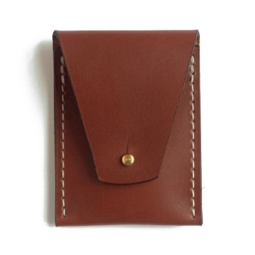 Slim Line Wallet:  This beautiful hand made wallet is made of the famous Horween of Chicago leather, equipped with solid brass Sam...