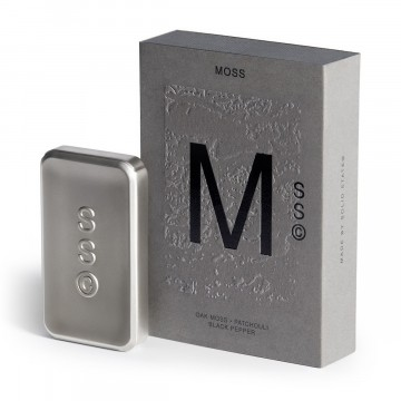Moss Cologne:  Moss opens with a shock of refreshing pink pepper and patchouli, before settling into the depths of manly oak moss...