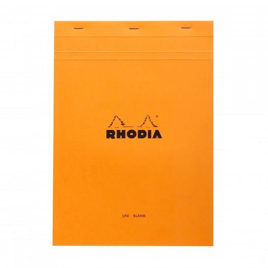 Bloc N°18 - Lehtiö:  Rhodia Bloc -lehtiöllä muistiinpanot ja luonnostelut hoituvat luotettavasti, niin toimistolla kuin reissussakin....