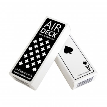 Air Deck 2.0 Playing Cards:   Air Deck is a full set of playing cards with an optimized footprint. This is ideal for travelling, since it won't...