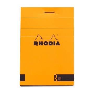 Bloc «R» N°11 Memo Pad:  Rhodia Bloc «R» pads have the same clever design than classic Bloc pads, but comes with premium-materials. The...