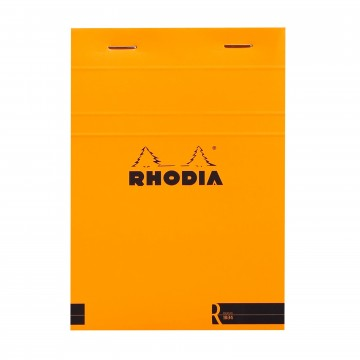 Bloc «R» N°13 Memo Pad:  Rhodia Bloc «R» pads have the same clever design than classic Bloc pads, but comes with premium-materials. The...