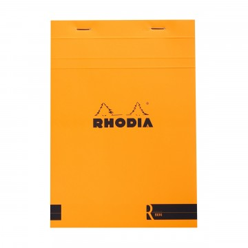 Bloc «R» N°16 Memo Pad:  Rhodia Bloc «R» pads have the same clever design than classic Bloc pads, but comes with premium-materials. The...