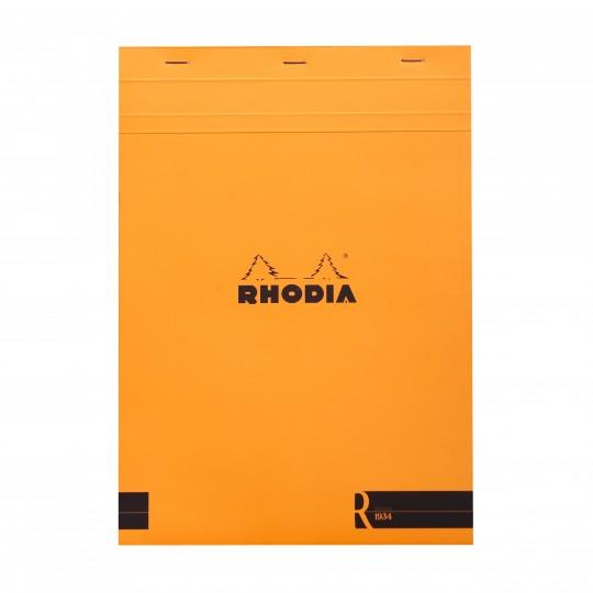 Bloc «R» N°18 - Lehtiö:  Rhodia Bloc «R» -lehtiöissä on samat ominaisuudet ja design kuin normaaleissa Bloc-lehtiöissäkin, mutta varustettu...