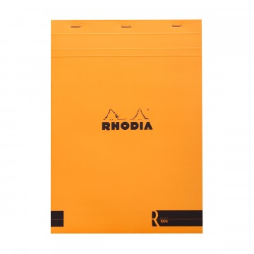 Bloc «R» N°18 Memo Pad:  Rhodia Bloc «R» pads have the same clever design than classic Bloc pads, but comes with premium-materials. The...