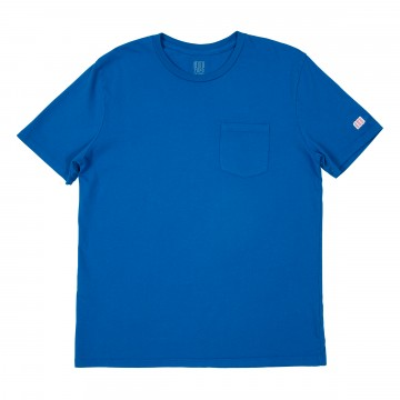 Pocket Tee - Blue:  The Pocket Tee is made from soft 100% organic cotton, offering trim but comfortable fit while on the move....
