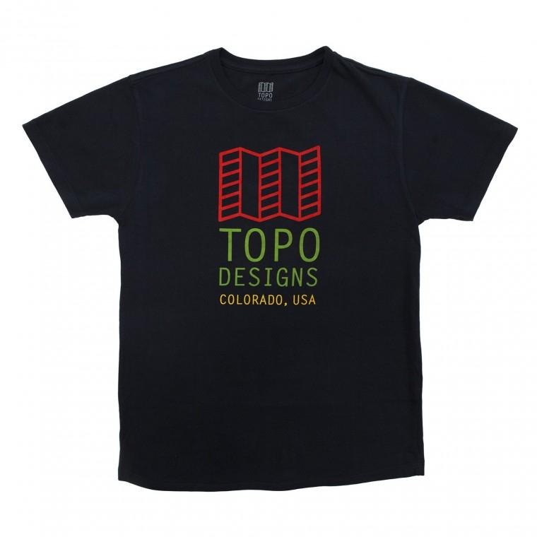 Topo Designs Original Logo Tee - Navy