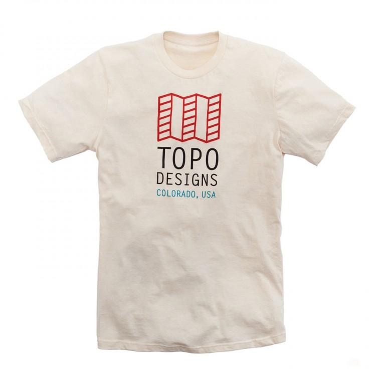 Topo Designs Original Logo Tee - Natural