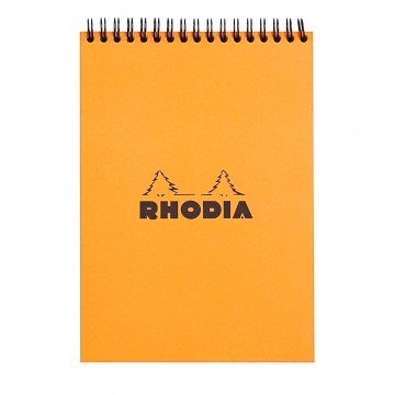 Notepad A5:  Rhodia Notepads hold 80 sheets of high quality 80 g Clairefontaine paper, which guarantees joyable writing...