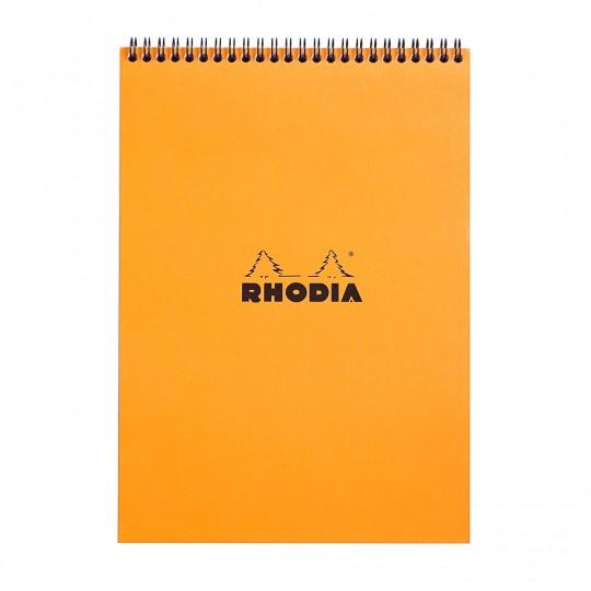 Notepad A4 - Kierrelehtiö:  Rhodia Notepad -kierrelehtiöt pitävät sisällään 80 arkkia laadukasta Cailerfontainen 80 g paperia. Mikro-rei'ityksen...