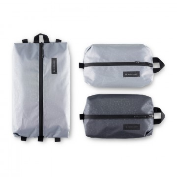 HPT Packing Cube Set:  The HPT Packing Cubes have one compartment and one zipper, to keep it simple. The set has three cubes,1 × Large, 2...