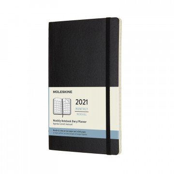 Monthly Planner Large 2021 Calendar:  Dated from January to December 2021, this classic black calendar/planner gives you the whole month across two pages....