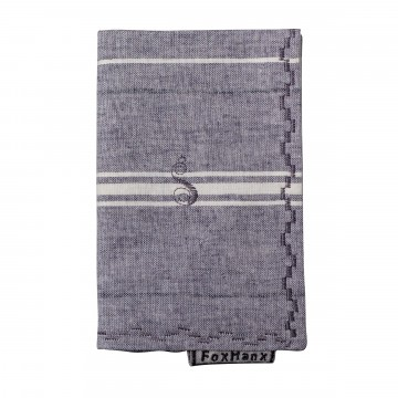 Stripe Handkerchief:   The textured grey   Fox Hanx Floral handkerchief features horizontal stripes  . Made from 100% cotton. Limited...
