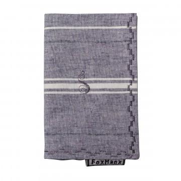 Stripe - Taskuliina:  Harmaan sävyinen, horisontaalisilla viivoilla varustettu Fox Hanx -taskuliina. Valmistettu 100% puuvillasta....