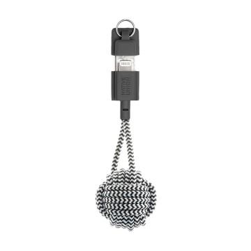 Key Cable USB-A Lightning:  Key Cable -latausjohdossa on piilotetut liittimet solmitussa avaimenperässä, joten yllättävä lataustarve ei pääse...