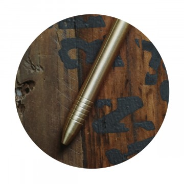 Brass Mini Pen:  The Brass Mini pen gets things done when it's time for business, but never gets in the whay when you don't need it....