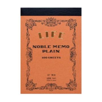 Noble Memo B7 - Lehtiö:   Noble Memo B7 on ideaali mukana kannettava, taskukokoinen kirjoituslehtiö. Jokainen lehtiö käsin tehty Japanissa ja...