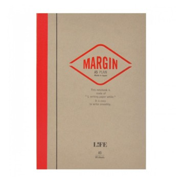 Margin A5 Notebook:  The Margin Notebook got its name from the line that runs down on each page, leaving 35 mm margin on the left side....