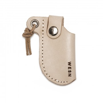 Micro Blade Sheath:  All-natural leather sheath specifically designed for the WESN Micro Blade. Makes for the perfect keychain carry....