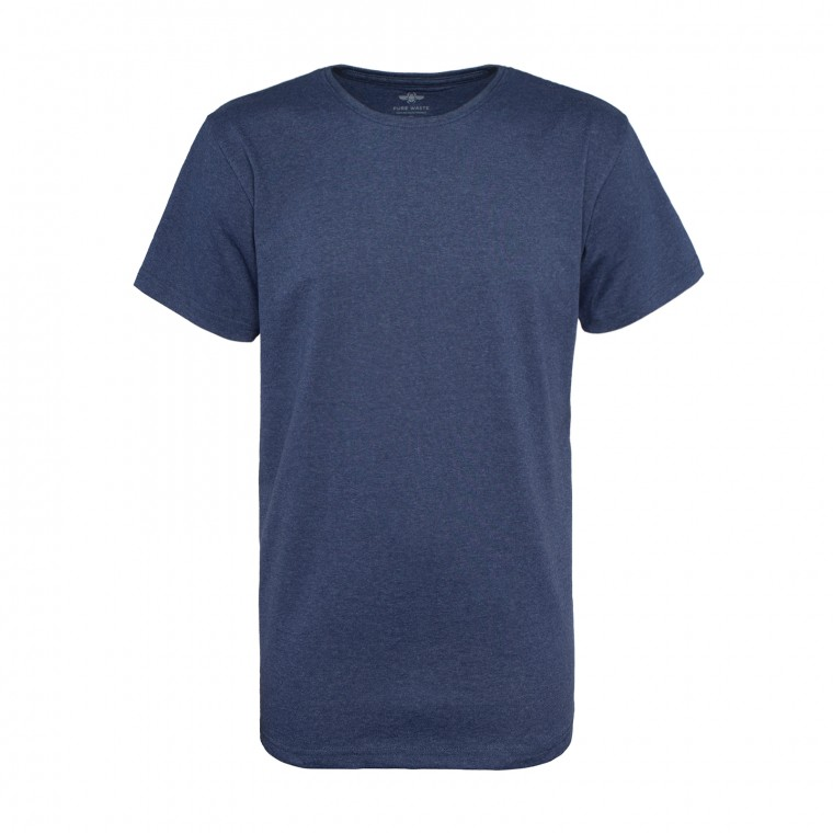 Pure Waste T-Shirt - Navy Melange