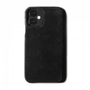 Dusty iPhone Cover:  The Dusty iPhone Cover is handmade in Italy, covered with premium dusty black Italian nubuck leather and snaps...