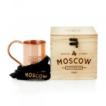 The Original Mug Polished:   This is The Original, 100% pure copper Moscow Mule mug that grandma Sophie created nearly 100 years ago. No lacquer...