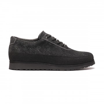 Explorer Black Sole Edition:  The Black Sole Edition Explorers are crafted with water repellant Italian suede, sitting on top of black natural...