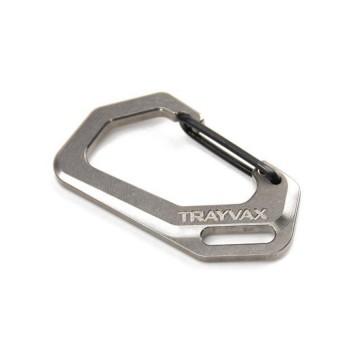 Carabiner Titanium - Karabiineri:  Nämä karabiinerit on CNC-koneistettu Trayvaxin pajalla kiinteästä titaanista. Itse asiassa ne tulevat täysin...