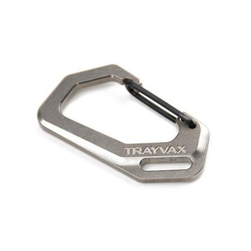 Carabiner Titanium:   These carabiners are CNC-machined at Trayvax out of solid pieces of titanium. In fact, these come from the very...