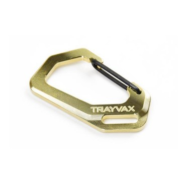 Carabiner Brass:   These carabiners are CNC-machined at Trayvax out of solid pieces of brass. In fact, these come from the very same...