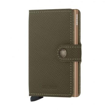 Miniwallet Saffiano - Lompakko:  Tämän Secrid-lompakon billfold on tehty Saffiano-nahasta, jonka ikonista tekstuuria on nähty laadukkaissa...