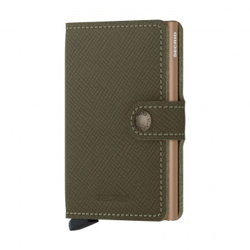 Miniwallet Saffiano:  The billfold in this Secrid wallet is made from Saffiano leather, which has an iconic bias-grain texture that has...