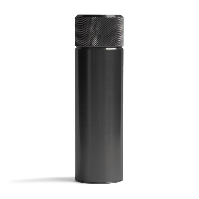 Wingback Hip Flask 100 ml Black Steel