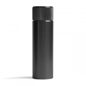 Hip Flask 100 ml Black Steel:   With a surface 9x harder than stainless steel, 3.5x harder than titanium and incredibly low friction, the Wingback...