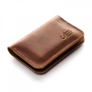 Card Wallet:  This wallet is made of a premium quality Vegetable tanned Crazy Horse style Italian leather and 100% German wool...