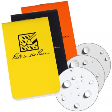 On-The-Go Notebooks 6-Pack:  These packs of 6 notebooks offer a trusted Rite in the Rain companion that fits into any place a business card would...