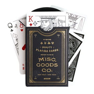 Playing Cards:  Misc. Goods Co. owner Tyler Deeb released his first deck of newly illustrated playing cards on Kickstarter in 2012...