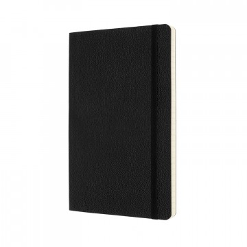 Classic Leather Notebook:  Traditional artisanal skills and modern manufacturing processes come together in this elegant black notebook....