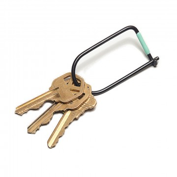 Wilson Carbon Black Keyring:  The Wilson is a simple and efficient keyring, where the inherent strength of the wire creates a secure closure....