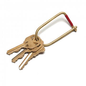 Wilson Brass Keyring:  The Wilson is a simple and efficient keyring, where the inherent strength of the wire creates a secure closure....