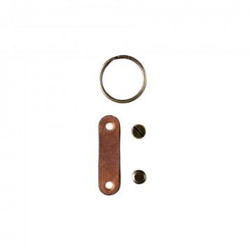 Keyring Set:  This Keyring Set transform the Crazy Horse Craft AirTag Holder to a handy key fob.