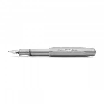 Steel Sport Fountain Pen:  The Steel model of the Sport fountain pen series is made of stainless steel with a rugged brushed finish that gives...