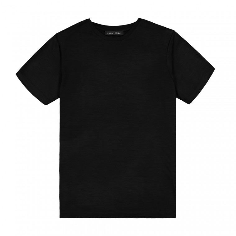 Formal Friday Ultrafine Merino T-Shirt - Black