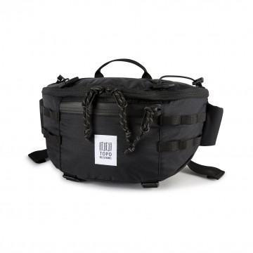 Mountain Sling Bag:  Made from 100% recycled lightweight nylon, the Mountain Sling Bag emphasizes the