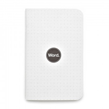 Dot Grid 3-Pack Memo Book:  We don't always stay within the lines. We sketch. We draw. We design. That's why Word created the first pocket...