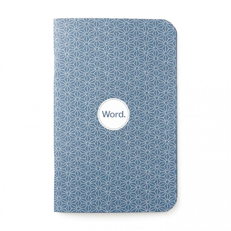 Word. Indigo Star 3-Pack Memo Book