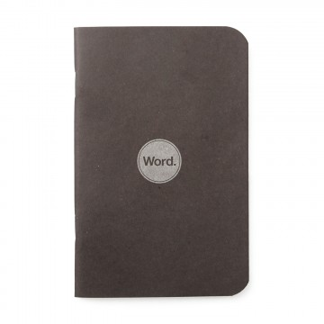 Black 3-Pack - Memo Book:  Word notebooks are designed to help organize your life while looking good in your pocket or bag. Each notebook...