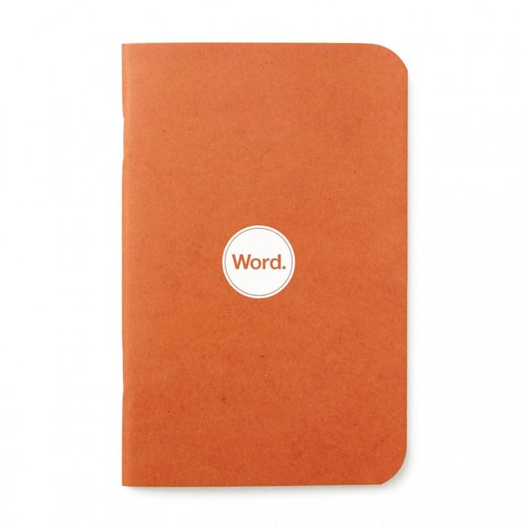 Word. Orange 3-Pack - Muistivihko